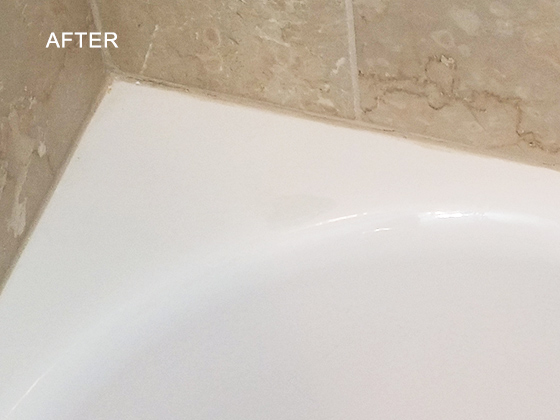 Chipped Porcelain Tub Repaired