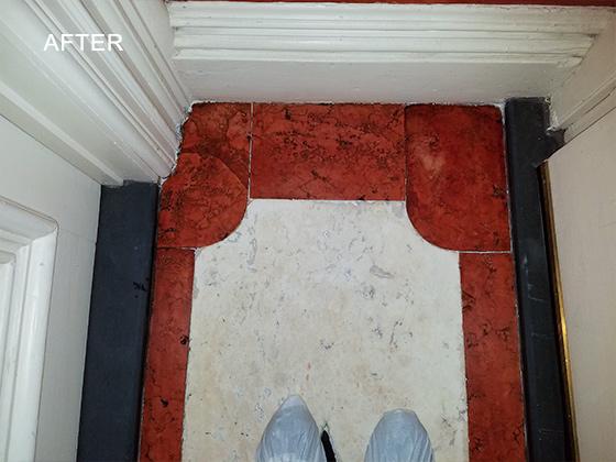 Marble Vestibule Floor Restored