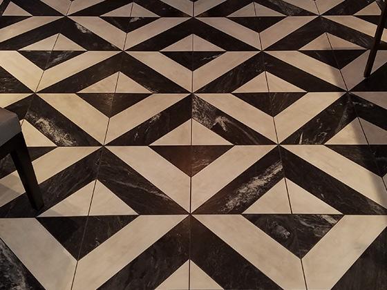 Textured Marble Floor Deep Cleaned