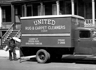 Original United Rug & Carpet Cleaners Truck